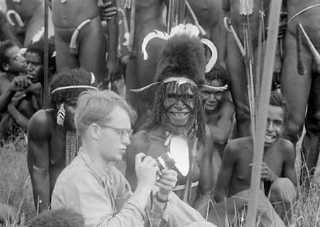 Michael Rockefeller with tribesman of Western New Guinea