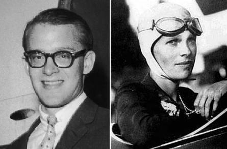 Rockefeller and Earhart were never seen again.