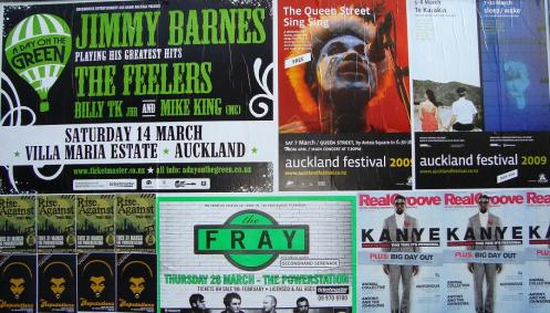 George Telek Pictured on an Auckland Billboard Next to Jimmy Barnes, The Fray, and Kanye West