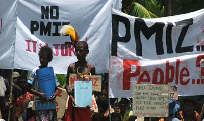 Madang Children Protesting - The National