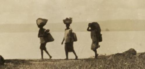 Three Laiden Tolai Women Walking in 1929 in Rabaul (Photo - NLA)